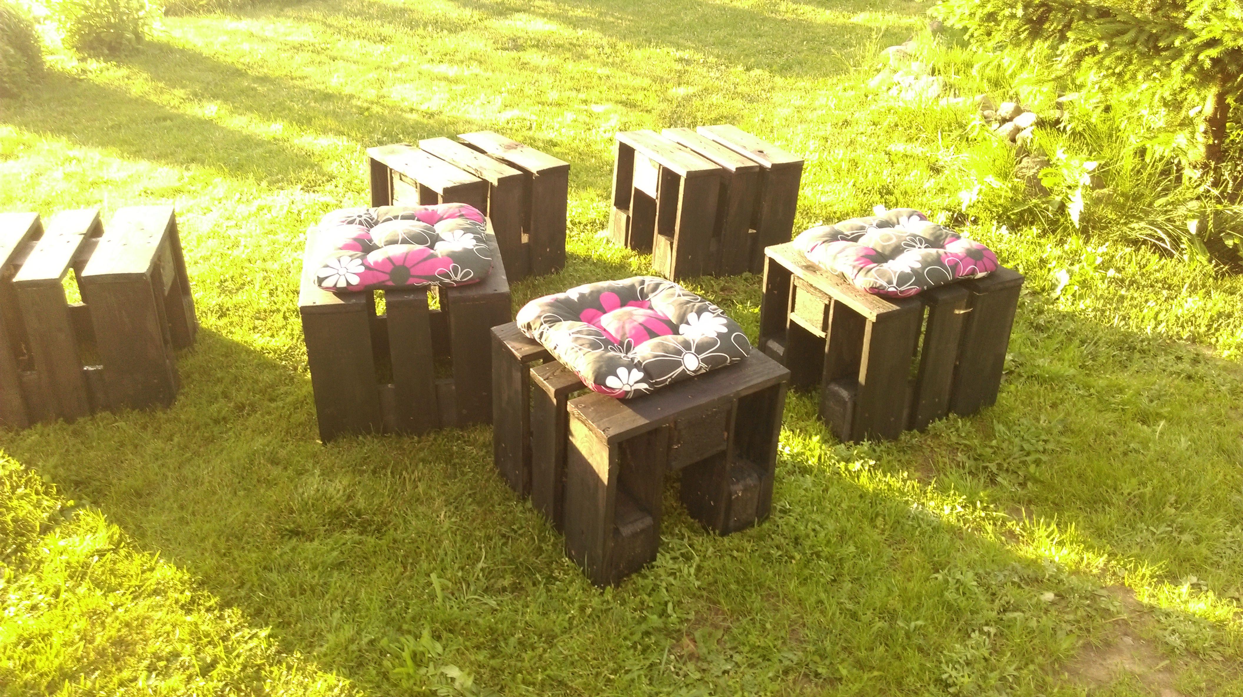 stołki ogrodowe z palet