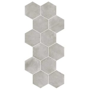 heksagonalna płytka w kolorze szarym